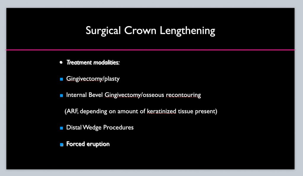 surgical crown lenghtening 2